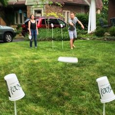 Flimsee - aka Cups & Poles   Best Frisbee throwing Target Game lawn game EVER!