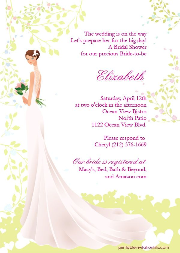 FREE PDF Downloads Spring Bride u2013 Bridal Shower Invitation Easy - free printable wedding shower invitations templates