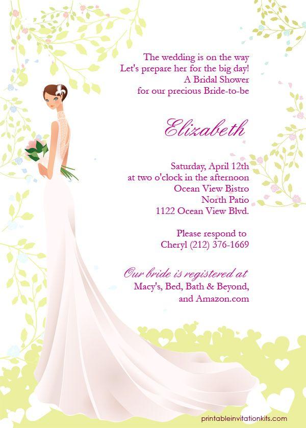 FREE PDF Downloads Spring Bride \u2013 Bridal Shower Invitation Easy to - brides invitation templates
