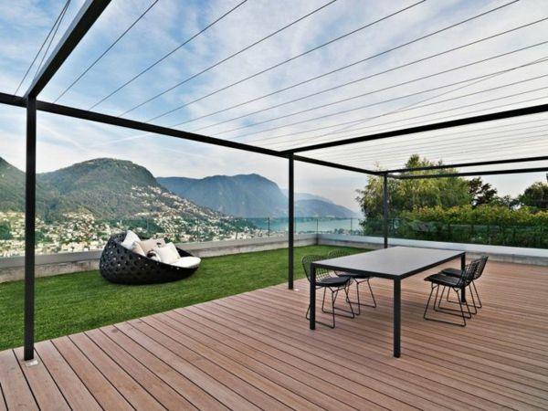 Terrassenüberdachungen Aus Metall Und Glas ~ Pergola aus metall u inspirierende beispiele und ideen garten