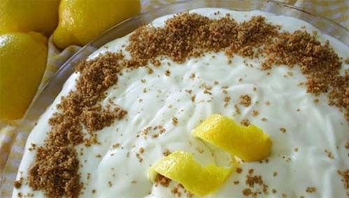 When we saw this recipe for frozen lemon mousse pie I decided to give it a try. It had to be good, after all it was made with lemons.