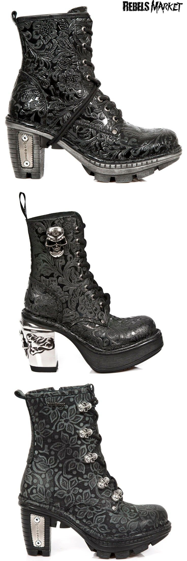 Shop Skulls Goth Boots At Rebelsmarket Goth Boots Cute Goth Outfits Skull Outfits