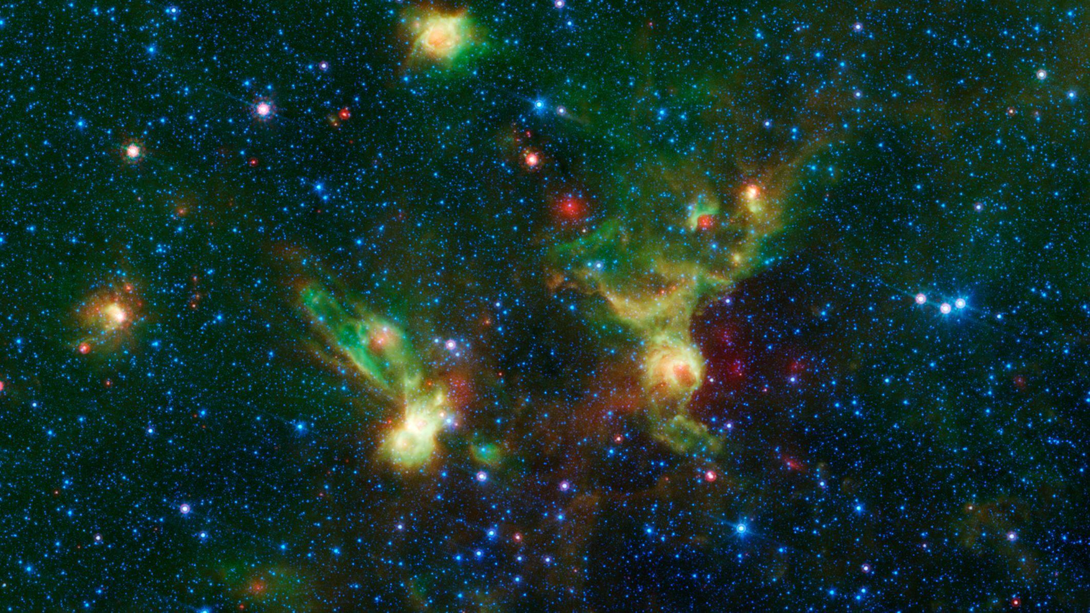 """Enterprise Nebula"" from the Spitzer Telescope [2125 1195"