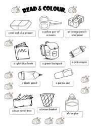English Worksheet CLASSROOM OBJECTS