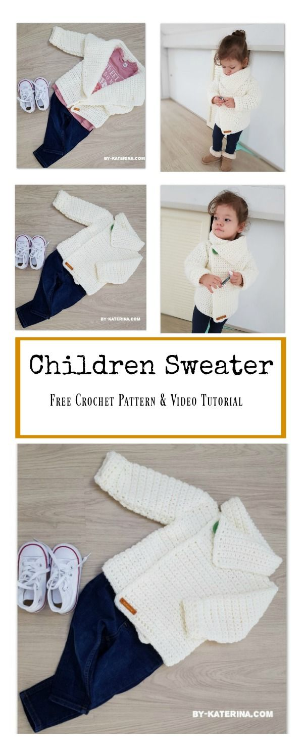 Children Sweater Free Crochet Pattern and Video Tutorial | Baby ...