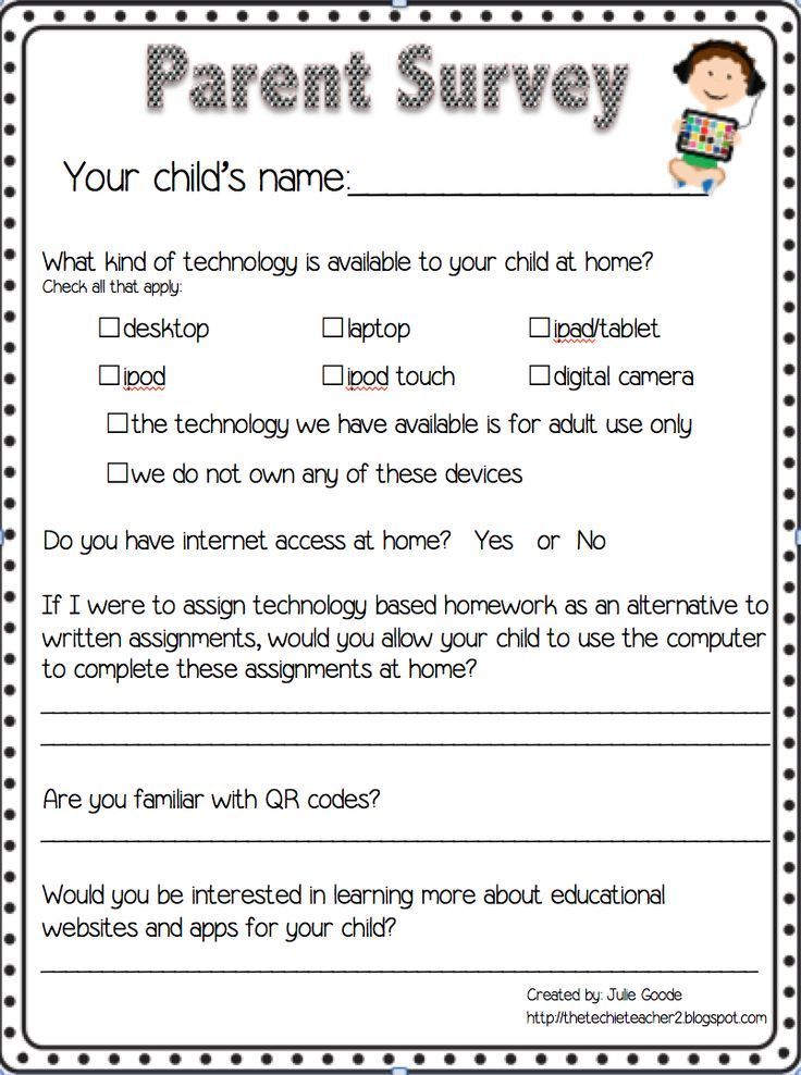 The Technology Survey - Think, Wonder, \ Teach What technology do - sample student survey