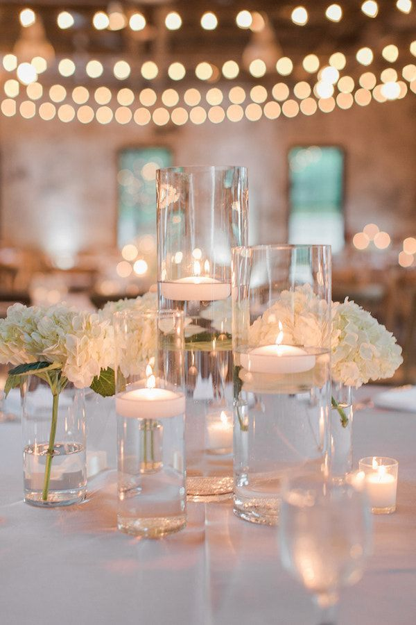 Urban Candlelight & Soft Blues Wedding | The Perfect Palette #weddingcenterpieces #candleweddingcenterpieces #classicweddingcenterpieces
