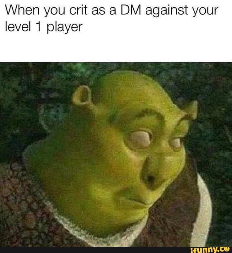 When You Crit As A Dm Against Your Level 1 Player Ifunny