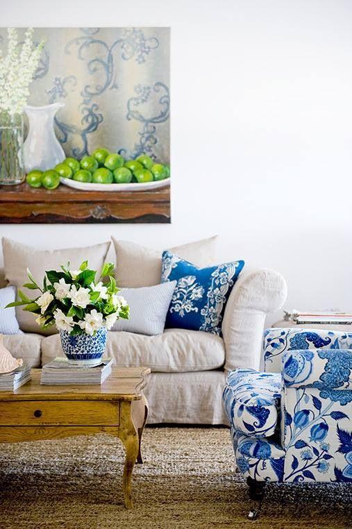 Sale du reste. Love the blue accents. | Country living ...