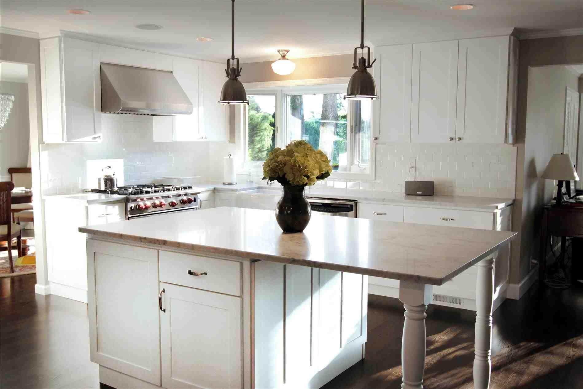 New Post white shaker kitchen cabinets with granite countertops ...