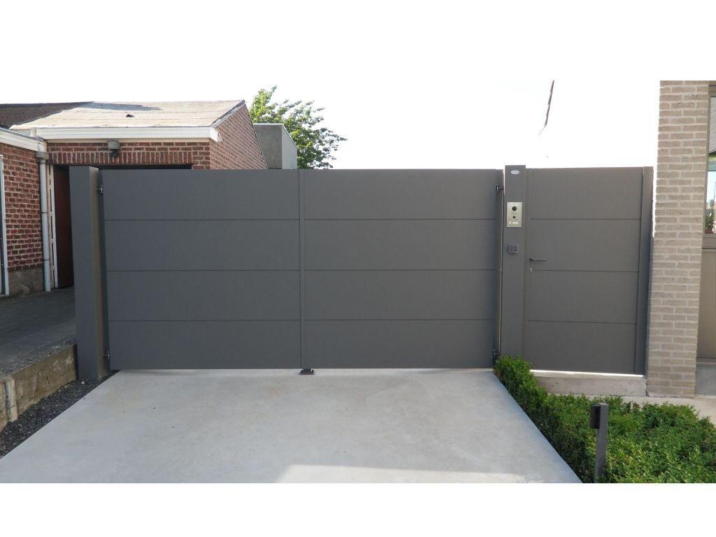 Haus design eingangstor metallooks aluminium poorten  garten  pinterest  gartenzaun