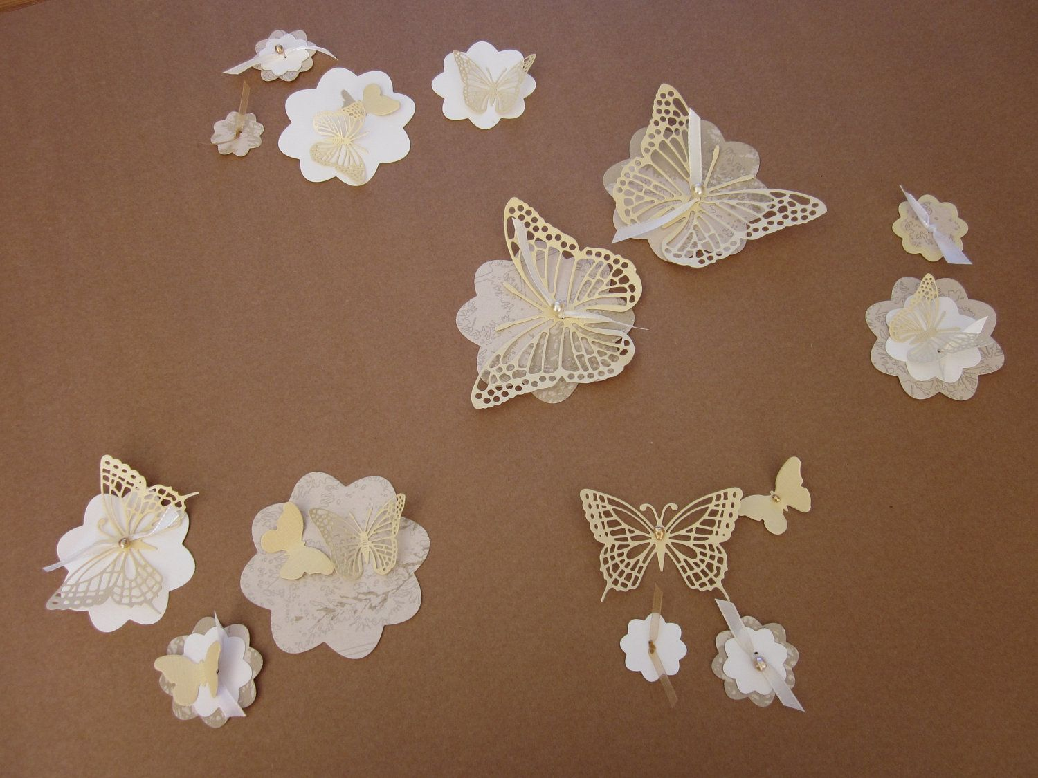 Butterflies and flowers!