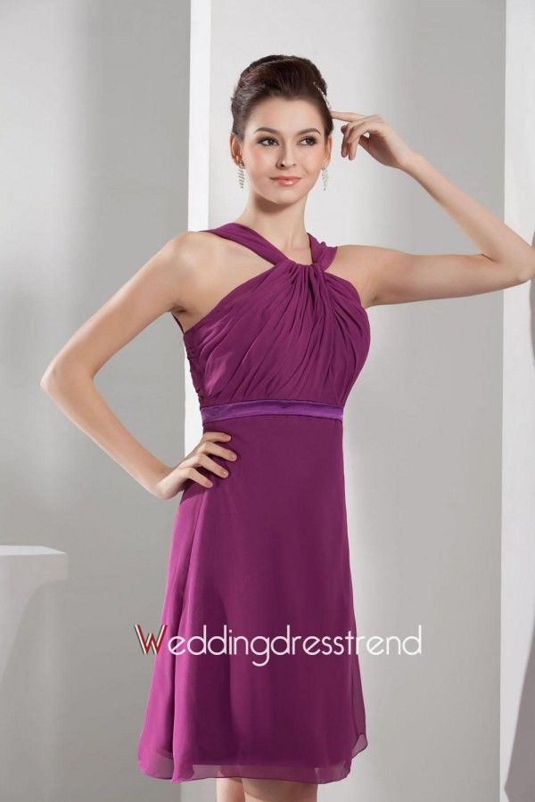 Best Beautiful Halter Ruched Chiffon Bridesmaid Dress - the Best ...