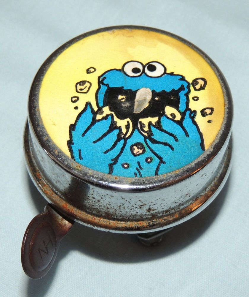 Vintage Bicycle Bike Bell Ringer Sesame Street Cookie Monster