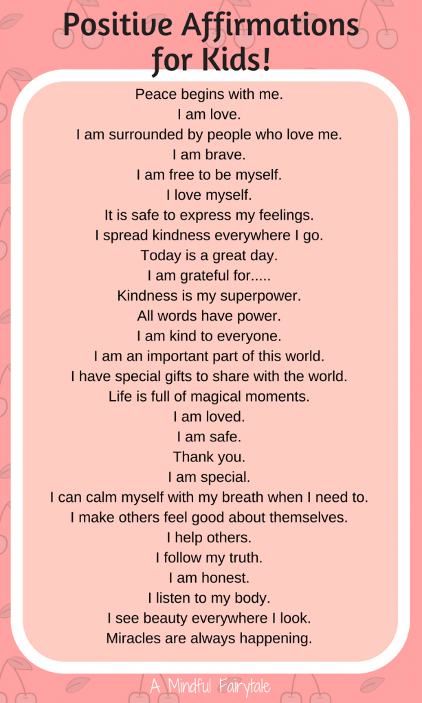 Amindfulfairytale Com Nbspamindfulfairytale Resources And Information Affirmations For Kids Positive Affirmations For Kids Positive Affirmations