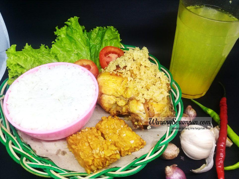 nasi ayam goreng kremes   enak  kampung inggris istimewa menu murah presto tepung Resepi Ayam Kampung Goreng Kunyit Enak dan Mudah