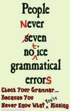 218 Classroom Poster Stops Grammatical Errors: Grammar Class ...