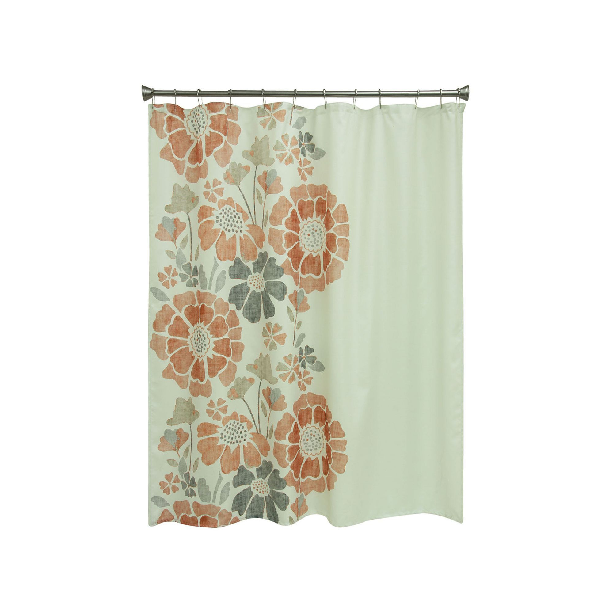 Jazz Up Your Bathroom Decor With This Bacova Peyton Floral Shower Curtain