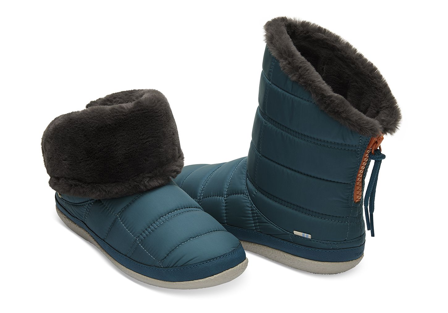 9bb0297828e57 Stellar Blue Quilted Women's Inez Booties | TOMS® | Fashion | Apres ...