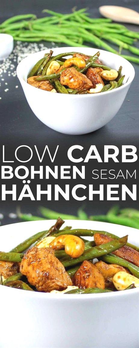 Asiatische Hähnchenpfanne mit grünen Bohnen und Cashews (Low-Carb)