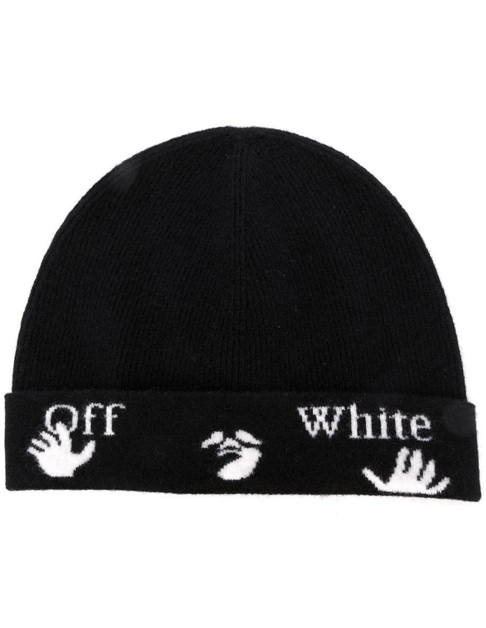 Off White Black New Logo Beanie Unisex Fall Winter 2020 Wool Beanie Beanie Hats Off White
