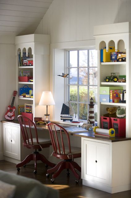 22 Inspirational Kids Study Room Design Ideas Built In Desk Home Office Cabinets Home
