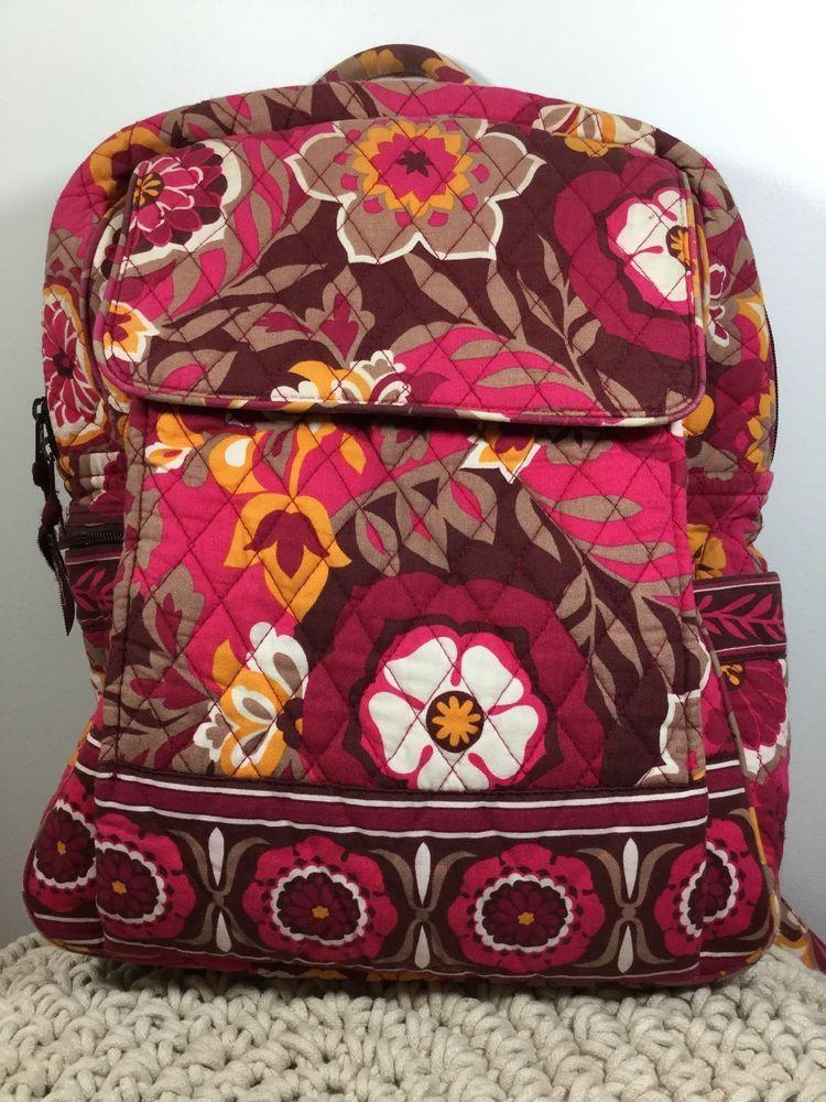 Vera Bradley Carnaby Large Backpack 15 X 13 5 Verabradley