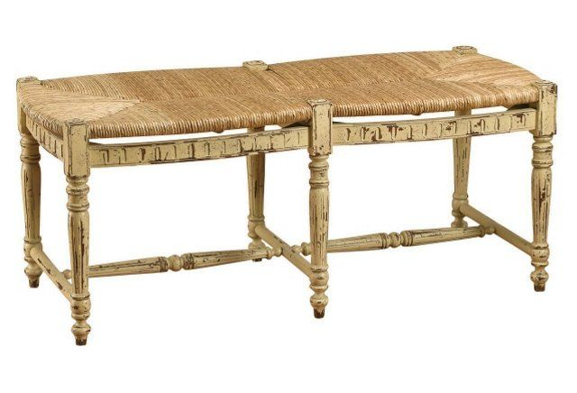 Betsy Bench, Distressed Beige  Absolutely LOVE this.  Might be the one .