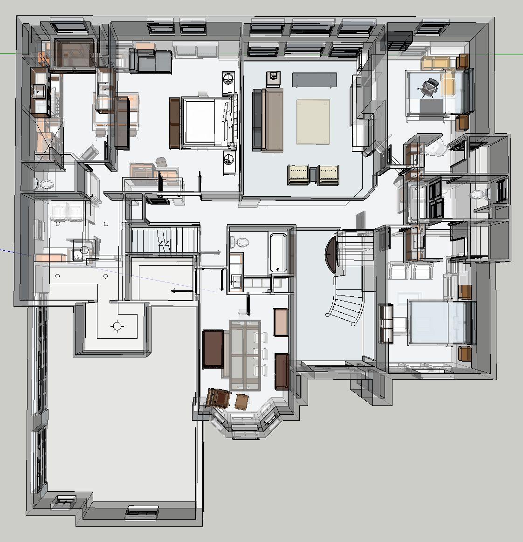 Maddalena Design Full House Rendering Sketchup Interior Design Plan Furniture Layout Design