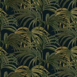 Palmeral Luxury Wallpaper - Midnight / Green by House of Hackney