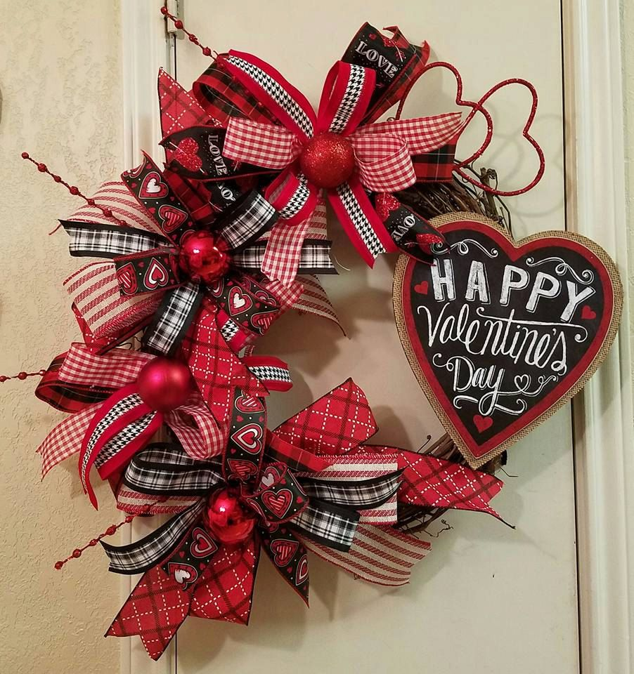 Valentine Grapevine Wreath Grapevine Wreath Valentine Decor Heart Wreath Grapevine Decor Valentines Door Hanger Valentine Day Wreaths Valentine Wreath Diy