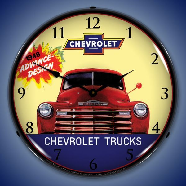 1948 Chevrolet Truck Led Lighted Wall Clock 14 X 14 Inches Chevrolet Trucks Wall Clock Light Trucks