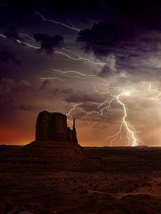 Shiprock Lightening | ... on Pinterest | Lightning Strikes, Lightning Storms and Lightning