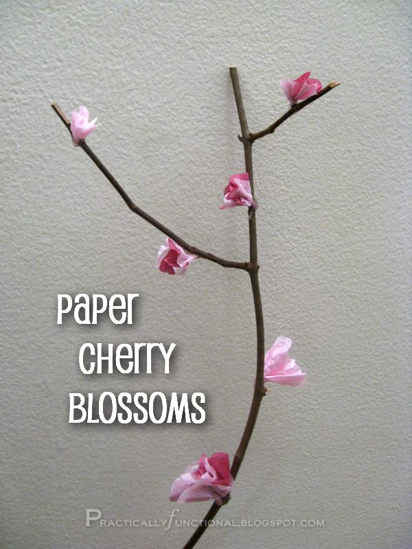 Tissue paper cherry blossoms tissue paper cherry blossoms and simple tutorial for making your own cherry blossoms out of tissue paper mightylinksfo Gallery