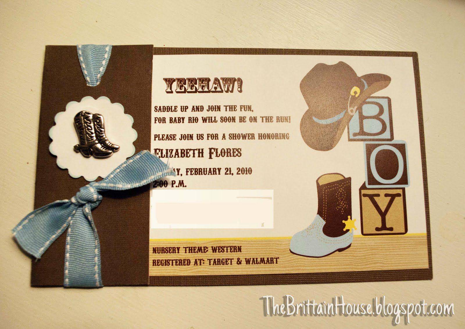 western baby shower invites   Western Invites   Invitations ...