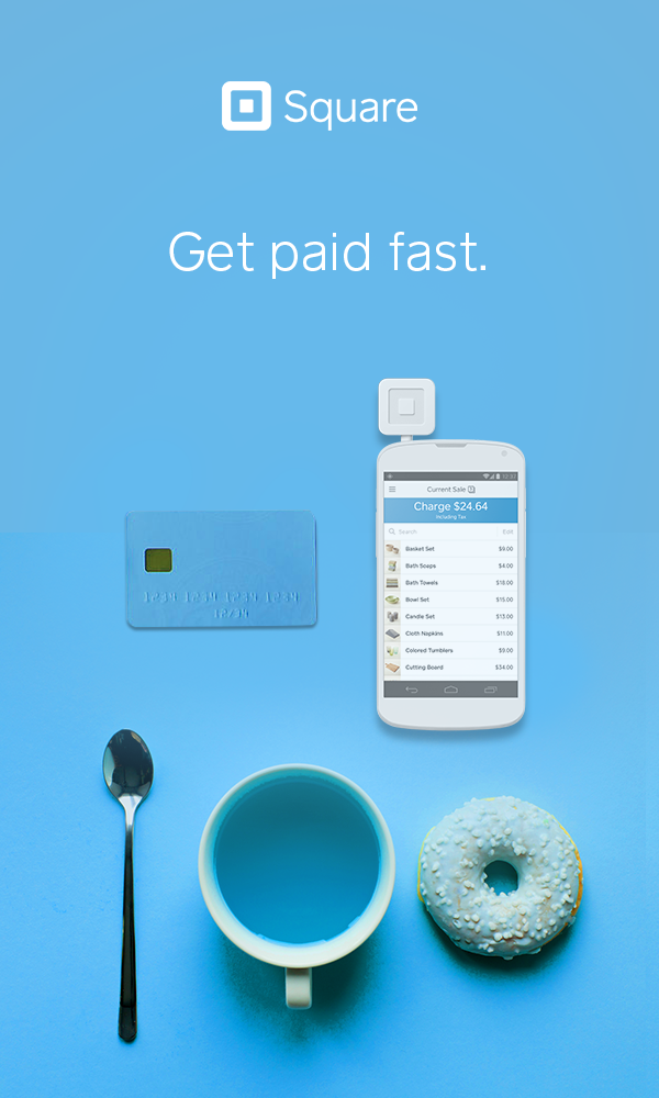 Square Point of Sale Accept all major credit cards with