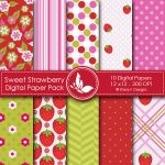 Sweet Strawberry - 10 Digital papers