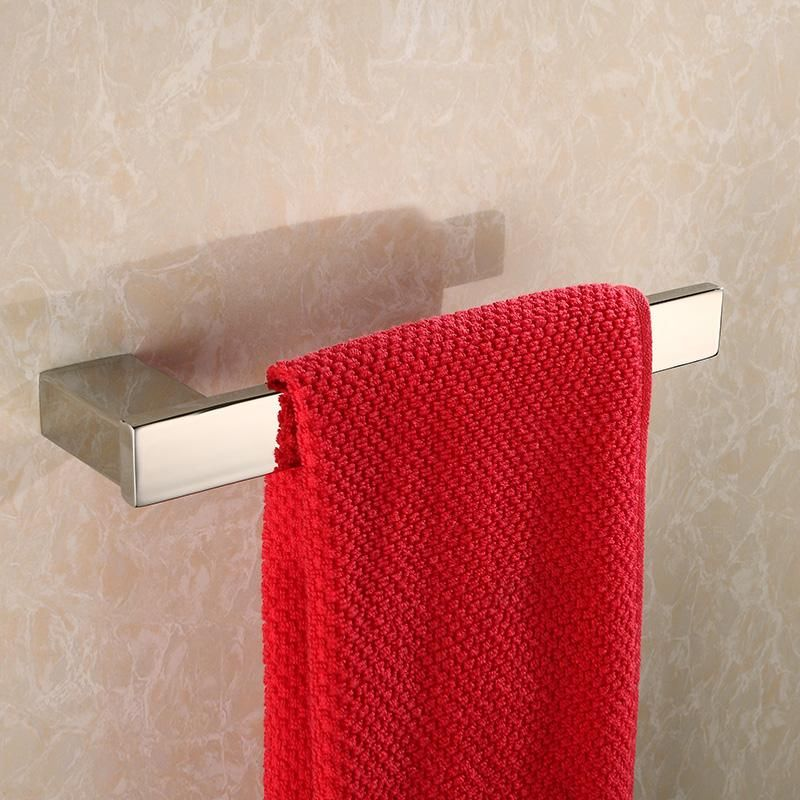 1pcs Free Shipping Sus 304 Stainless Steel Single Towel Bar Square