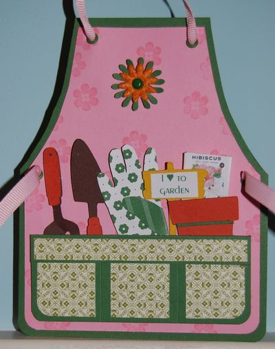 Pin By Diane Hagy On Card Inspirations Gardening Apron Shaped Cards Cards