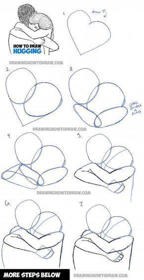 How to Draw Two Pe… - #Draw #Pe #zeichnen