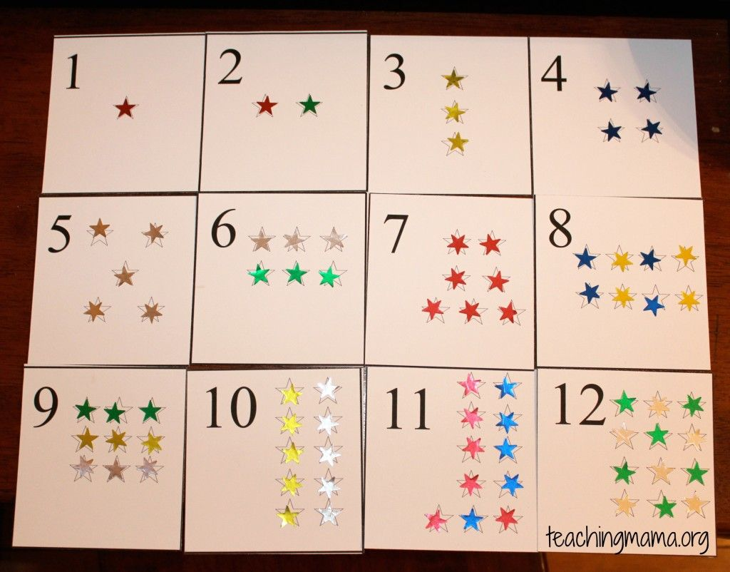 Star Number Cards | Counting cards, Teaching mama, Number cards