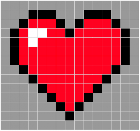Crochet 8 Bit Heart Slouchy Whistle And Ivy Pixel Crochet Crochet Heart Pattern Valentines Crochet