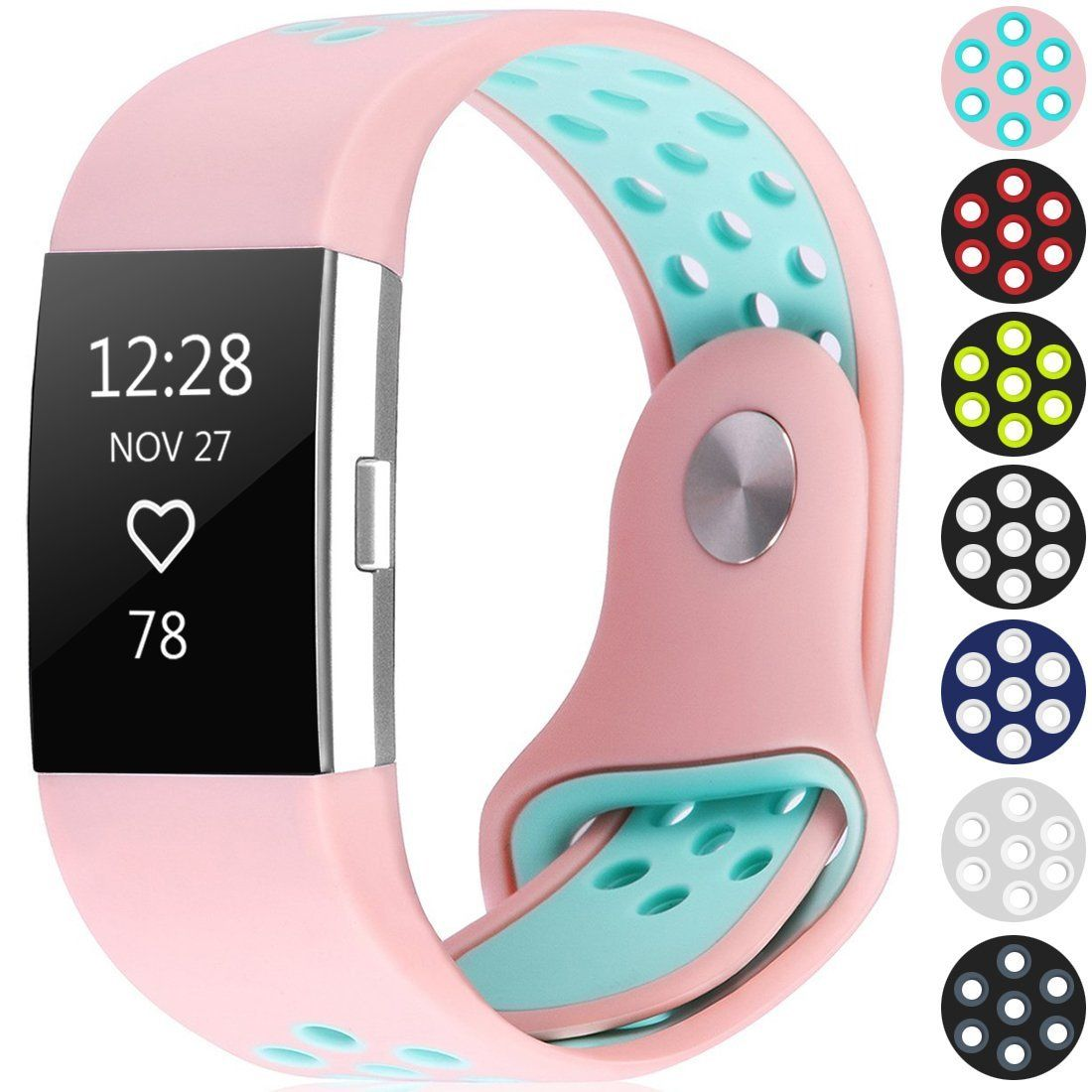 Amazon com : For Fitbit Charge 2 Bands, TreasureMax Latest