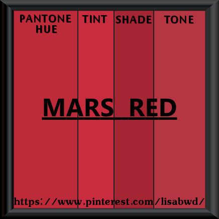 Pantone Seasonal Color Swatch Mars Red