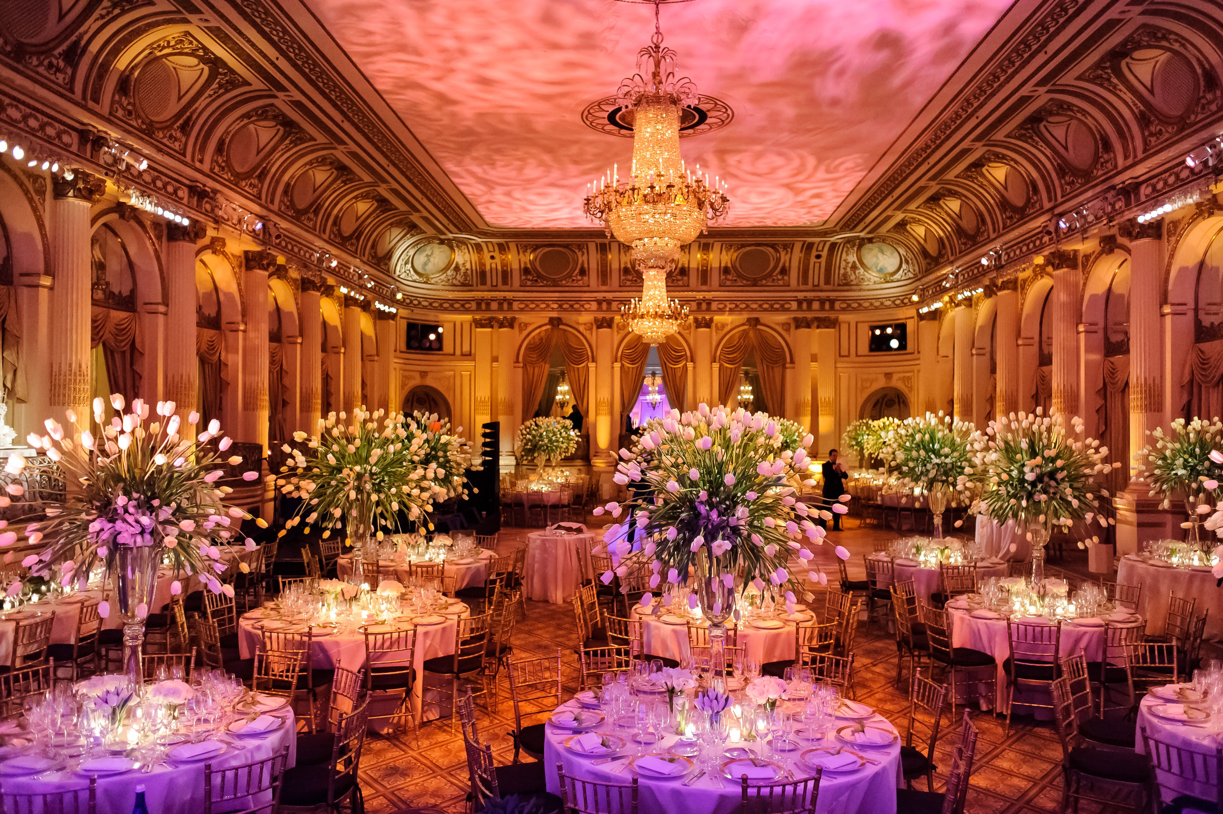 What A Spectacular Night At The Plaza Hotel By Thousands Of Tulips Filled Grand Ballroom