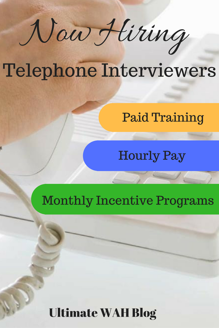 Interested In A Solid, W2 Employee Work From Home Job? Apply To This  Telephone Interview Position.