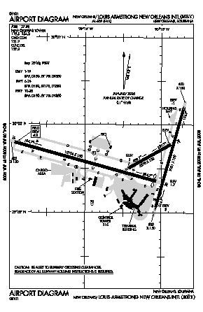 Louis Armstrong New Orleans International Airport Msy Diagram