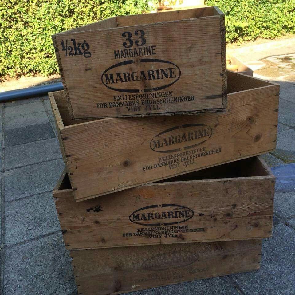 Reklame kasser, æblekasser