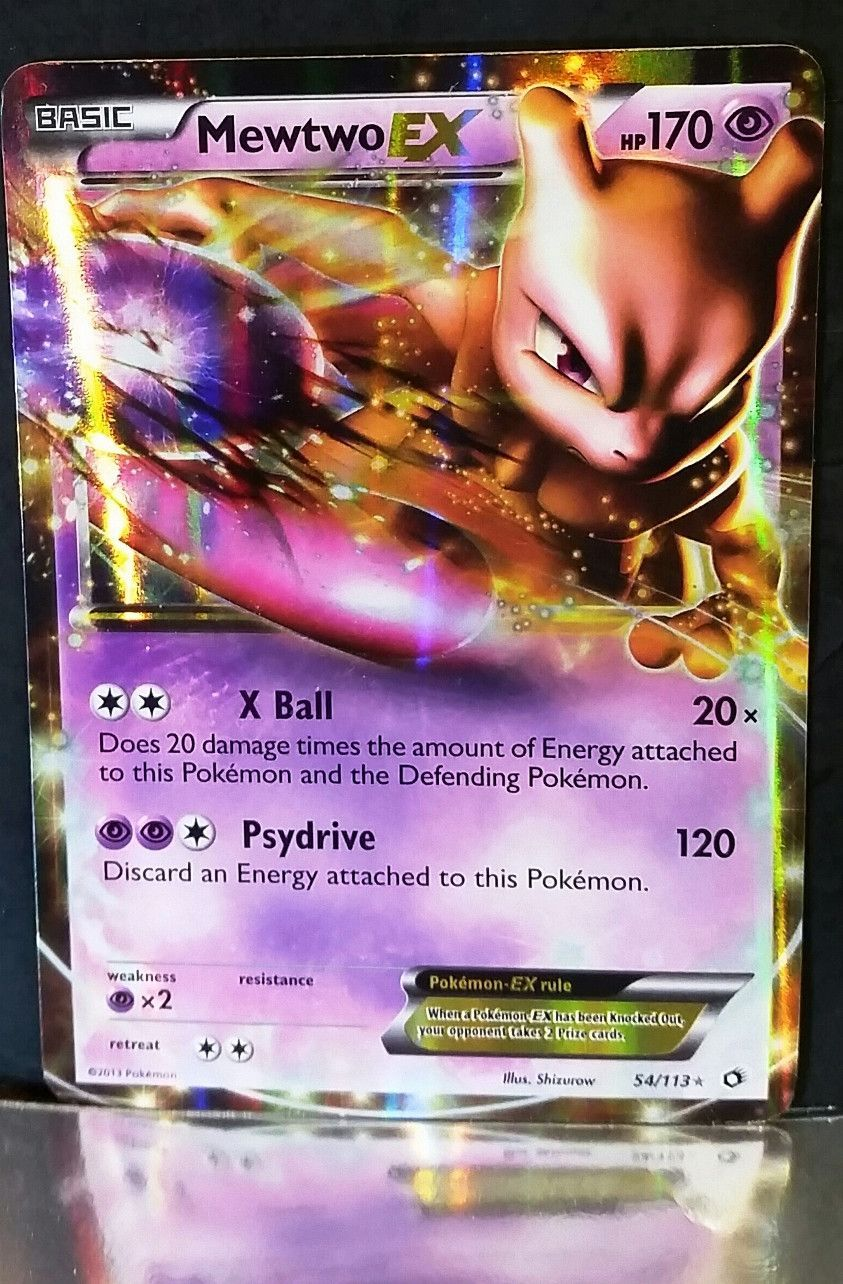 Mewtwo 54 113 - Ultra Rare Holo Card Black And White