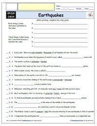 31+ Bill nye earthquakes worksheet answers Education
